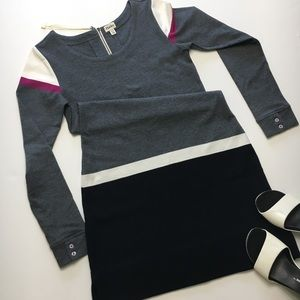 Hatley Long Sleeve Dress, Gray black white pink